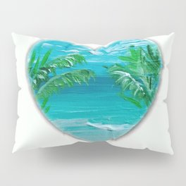 Florida, beach with palms~Ocean Love Pillow Sham