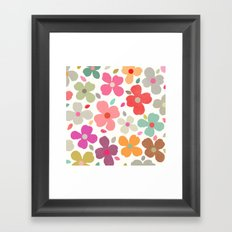 dogwood 2 sq Framed Art Print