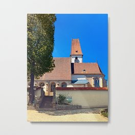 The village church of Hirschbach Metal Print