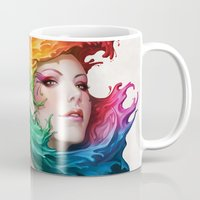 pen Mugs featuring Angel of Colors by Artgerm™