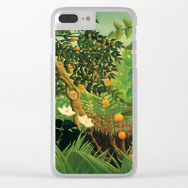 "Henri Rousseau ""Exotic landscape"", 1910 Clear iPhone Case"