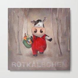 Rotkaelbchen Metal Print