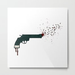 your life or your freedom (part 1 of the 'gun' series) Metal Print