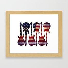 American Flag Guitar Art Framed Art Print