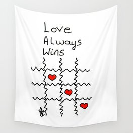 Love always wins Wall Tapestry