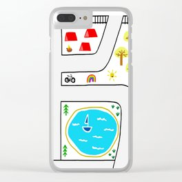 Childhood Map Clear iPhone Case