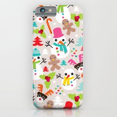 Christmas retro kids illustration pattern Slim Case iPhone 6