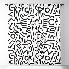 Black and White Memphis Design Blackout Curtain