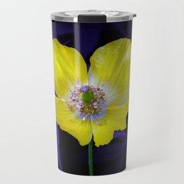 Yellow Welsh poppy Travel Mug