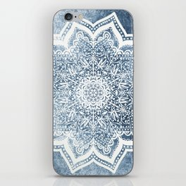 BLUEISH SEA FLOWER MANDALA iPhone Skin