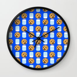 Milk & Cookies pattern Wall Clock