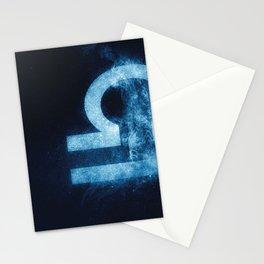 Libra Zodiac Sign. Astrology women night sky background Stationery Cards