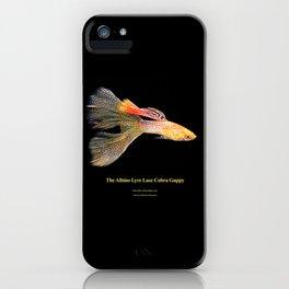 Albino Lyre Lace Cobra Guppy iPhone Case