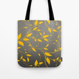 FLOWERY VINES | grey yellow Tote Bag