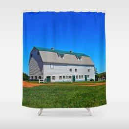 Beautiful Barn under Blue Sky Shower Curtain
