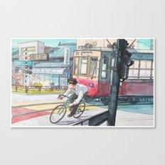 Bicycle Boy 05 Canvas Print
