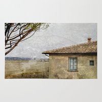 italian Area & Throw Rugs featuring Italian Farm by ZenaZero