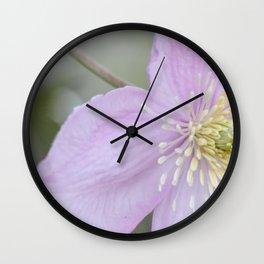 Makro_Clematis_5 Wall Clock