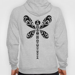 Tribal Dragonfly Tattoo Hoody