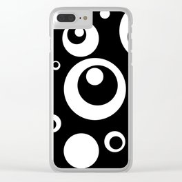 Circles Dots Bubbles :: Black Pepper Clear iPhone Case