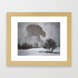Mysterious Creature Framed Art Print