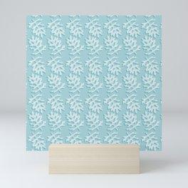 Turquoise Dusty Miller Pattern Mini Art Print