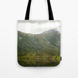 waterfalls in the norwegian mountains Tote Bag