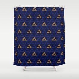 The Golden Power (Blue) Shower Curtain