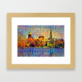 Notre Dame: A View From the Lake Framed Art Print
