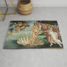 The Birth of Venus by Sandro Botticelli, 1445 Rug
