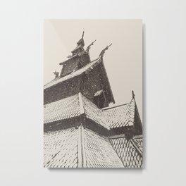 Borgund Stavkirke II Metal Print