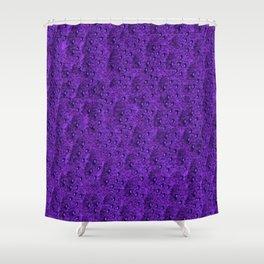 Purple Eft Shower Curtain