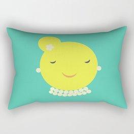 MISS SUNSHINE IN PEARLS Rectangular Pillow