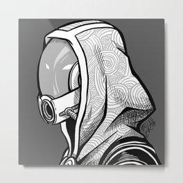 Tali - B&W profile Metal Print