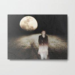 Ghostly Moonlit Stroll Metal Print