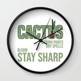 Teach Like A Cactus Teacher Profession Quote Gift Wall Clock