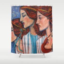 Tribute to Art Nouveau Shower Curtain