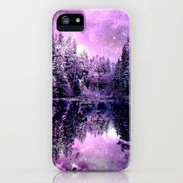 A Cold Winter's Night : Purple Lavender Winter Wonderland iPhone Case