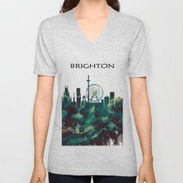 Brighton Skyline Unisex V-Neck