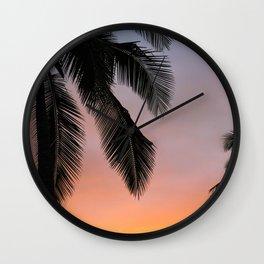 Ocean Shore Palms Wall Clock