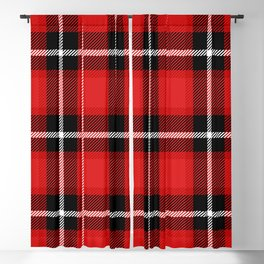 Red + Black Plaid Blackout Curtain