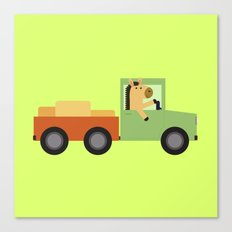 Horse on Truck Canvas Print