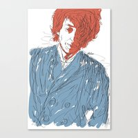 dylan Canvas Prints featuring Dylan by Alec Goss