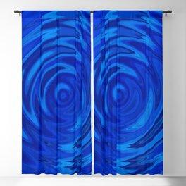 Water Moon Cobalt Swirl Blackout Curtain