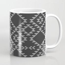 Southwestern textured navajo pattern in black & white Coffee Mug