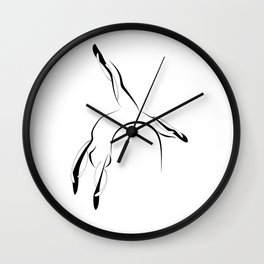 Pilates pose7 Wall Clock