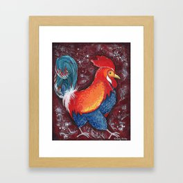 Red Rooster by Kimberly Schulz Framed Art Print