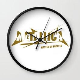 HEAVY METAL BAND LOGO ART #GOLD Wall Clock