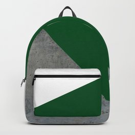 Concrete Festive Green White Backpack