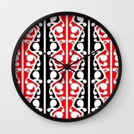 Maori Kowhaiwhai Traditional Pattern Wall Clock